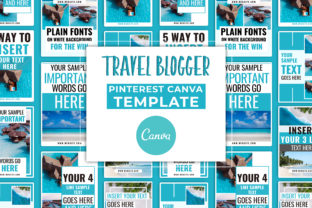 Print on Demand: Travel Blogger Pinterest Canva Template Graphic Presentation Templates By SnapyBiz