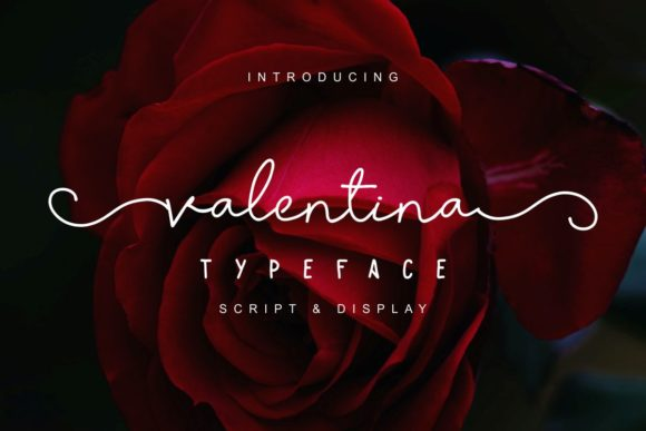 Print on Demand: Valentina Script & Handwritten Font By Pidco.art