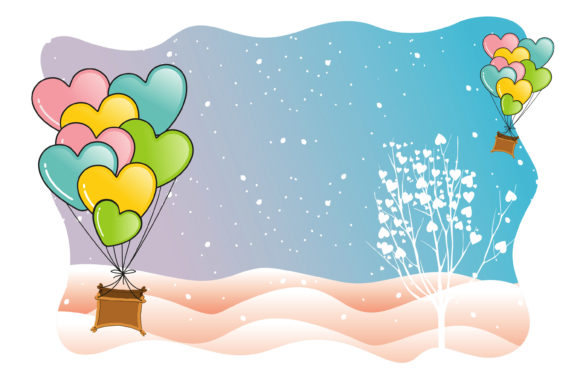Print on Demand: Valentine Moments in Hot Air Balloons Graphic Illustrations By edywiyonopp