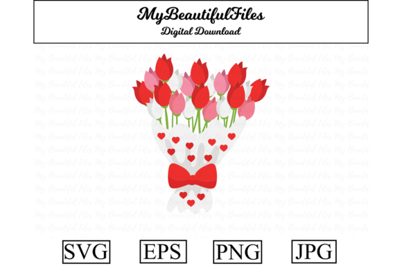 Print on Demand: Valentines Day - Flower Clipart Graphic Illustrations By MyBeautifulFiles