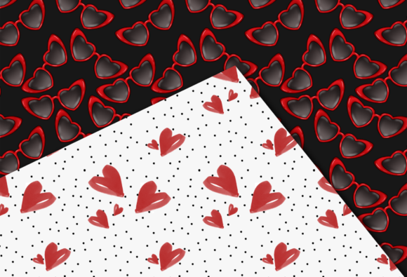 Valentine's Day Seamless Patterns Graphic Image