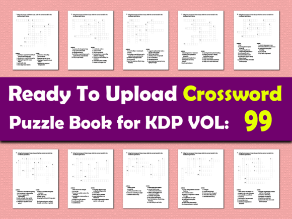 Print on Demand: Vol (99) Crossword Puzzle Book for KDP Graphic KDP Interiors By islanowarul