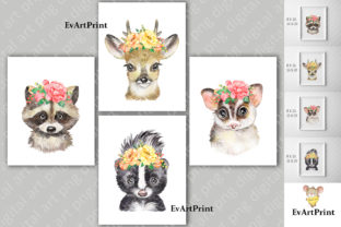 Watercolor Animals Clipart. Kids Animals Graphic Illustrations By EvArtPrint
