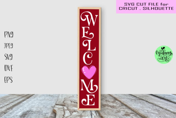 Welcome Valentines Porch Sign Svg Graphic Objects By MidmagArt