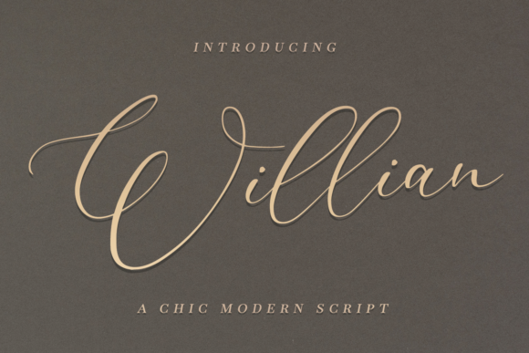 Print on Demand: Willian Script & Handwritten Font By it_was_a_good_day