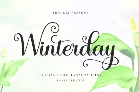 Print on Demand: Winterday Script & Handwritten Font By Romie Creative