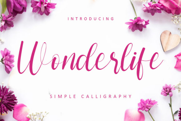 Print on Demand: Wonderlife Script & Handwritten Font By FreshTypeINK