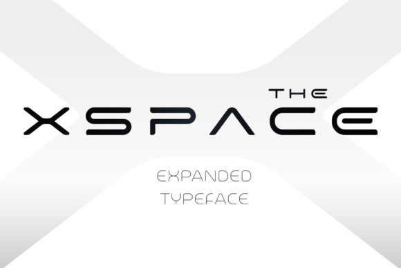 Print on Demand: X-Space Display Font By artyway