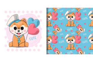 Cute Puppy in Sailor Costume Graphic Illustrations By maniacvector