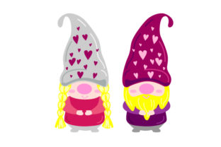 Valentine S Gonk Gnome Couple Valentine's Day Craft Cut File By Creative Fabrica Crafts