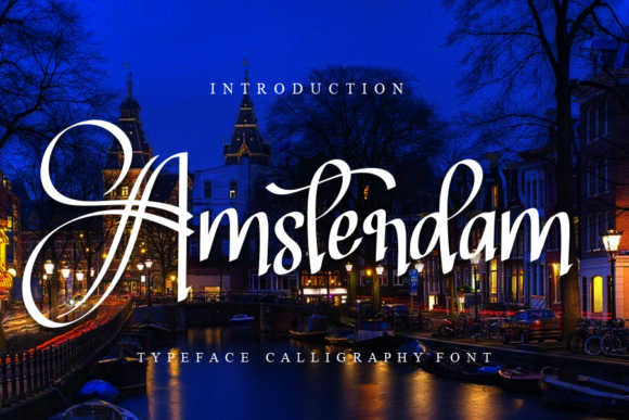 Print on Demand: Amsterdam Script & Handwritten Font By Creativewhitee