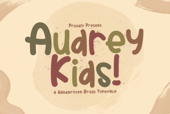 Print on Demand: Audrey Kids Display Schriftarten von StringLabs