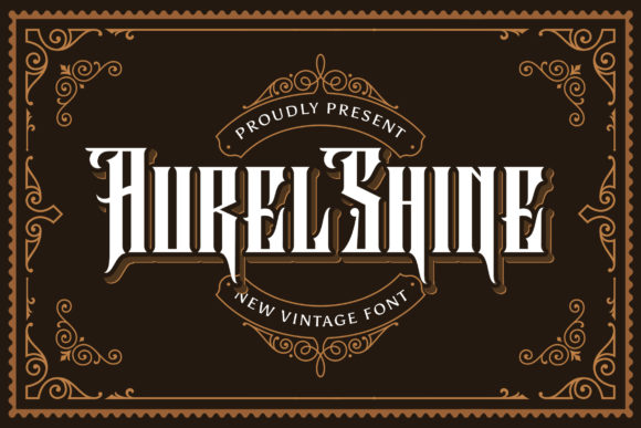 Print on Demand: Aurel Shine Blackletter Font By StringLabs