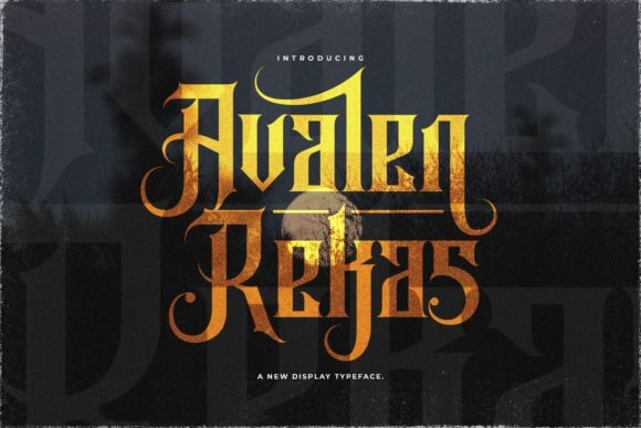 Print on Demand: Avalen Rekas Blackletter Font By StringLabs