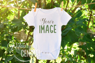 Baby Onepiece Clothesline Mockup Graphic Product Mockups By Mockup Central
