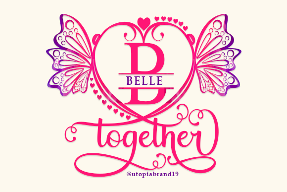 Print on Demand: Belle Monogram Decorative Font By utopiabrand19