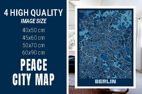 Berlin - Germary Peace City Map Graphic Photos By pacitymap