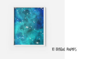 Print on Demand: Blue Galaxy Space Digital Papers Graphic Backgrounds By PinkPearly 5