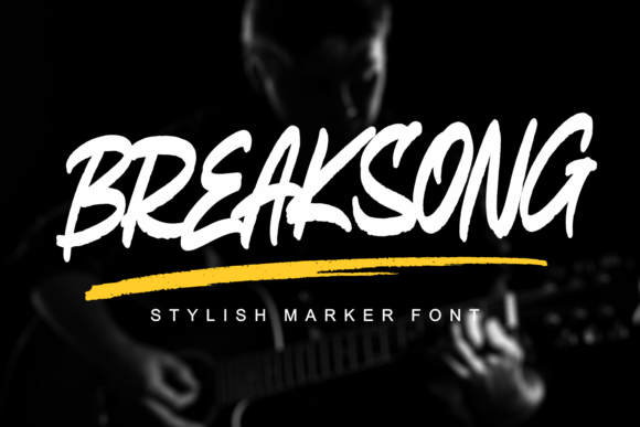 Print on Demand: Breaksong Display Font By Mozarella