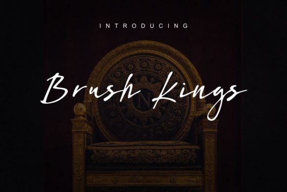 Print on Demand: Brush Kings Script & Handwritten Font By Pidco.art