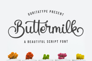 Print on Demand: Buttermilk Script & Handwritten Font By Guritatype