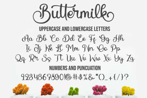 Buttermilk Font Popular Design