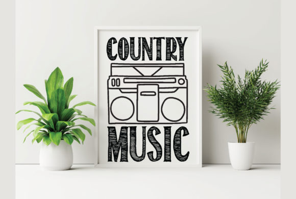 Country Music Graphic Crafts By Printable Store