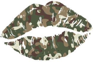 Camouflage Lips Sublimation Graphic Print Templates By DenizDesign