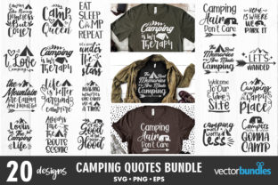 Camping Quote Bundle Svg Graphic Crafts By vectorbundles