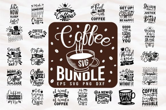 Print on Demand: Coffee Quotes Bundle SVG Graphic Print Templates By Universtock