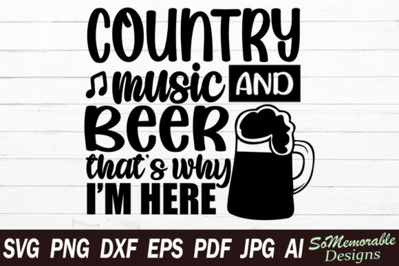 Print on Demand: Country Music and Beer Graphic Crafts By SoMemorableDesigns
