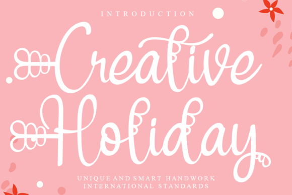 Print on Demand: Creative Holiday Script & Handwritten Font By Creativewhitee