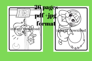 Print on Demand: Cute Coloring Cats 26 Pages #1 Graphic Coloring Pages & Books By Davina Danvers