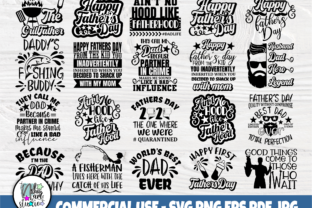 Print on Demand: Dad SVG Bundle, Fathers Day Svg Quotes Graphic Crafts By nibaartstudio