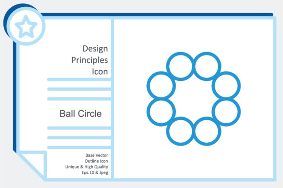 Design Principles Icon - Ball Circle Graphic Icons By noumineomi