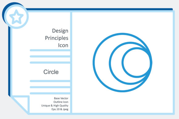 Design Principles Icon - Circle Graphic Icons By noumineomi