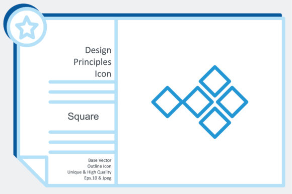 Design Principles Icon - Square Graphic Icons By noumineomi