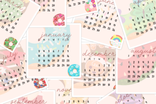 Dreamy Donut Calendar Stickers Graphic Illustrations By kymmiejournals