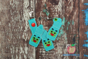 Eye Drops ITH KeyFob Snaptab House & Home Quotes Embroidery Design By embroiderydesigns101