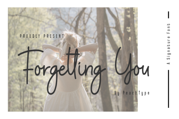 Print on Demand: Forgetting You Script & Handwritten Font By Guritatype
