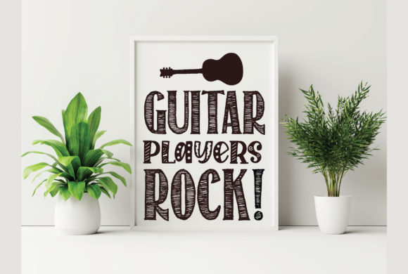 Guitar Players Rock! Graphic Crafts By Printable Store