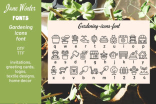 Print on Demand: Gardening Icons Dingbats Font By Jane Winter