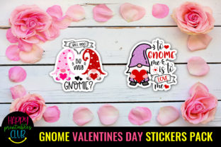 Gnome Valentines Day Stickers Pack Graphic Crafts By Happy Printables Club 2