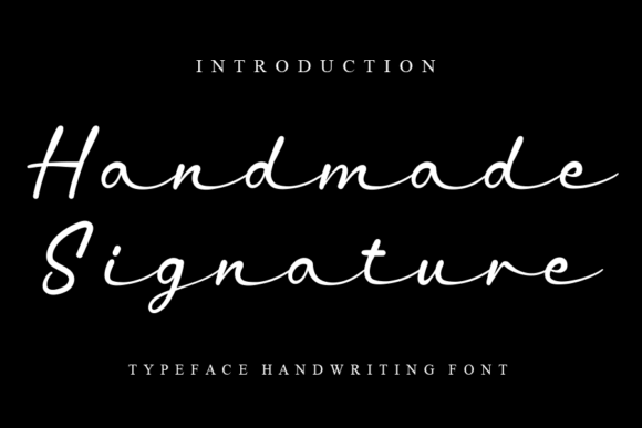 Print on Demand: Handmade Signature Script & Handwritten Font By Creativewhitee