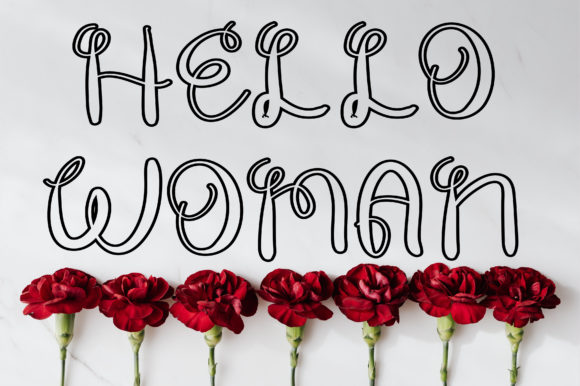 Print on Demand: Hello Woman Display Font By ABBAsalam