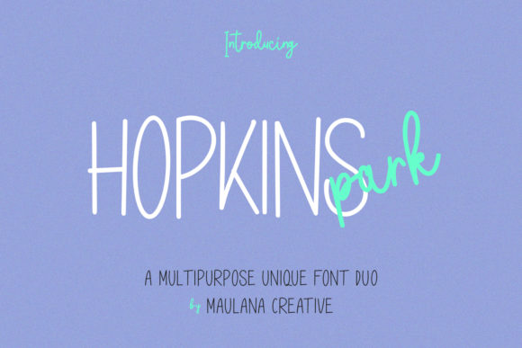 Print on Demand: Hopkins Park Sans Serif Font By Maulana Creative