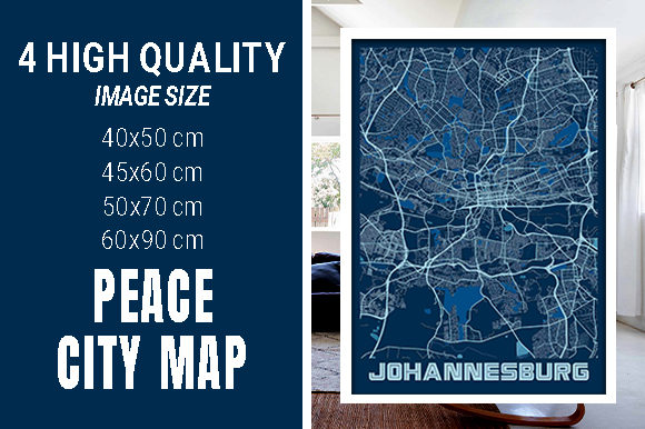 Johannesburg - South Africa Peace City M Graphic Photos By pacitymap