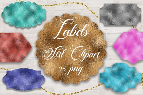 Labels Foil Clipart PNG Graphic Backgrounds By PinkPearly