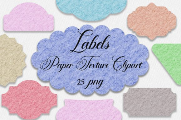 Labels Paper Texture Clipart PNG Graphic Backgrounds By PinkPearly