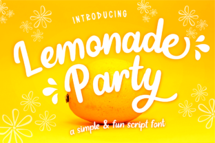 Print on Demand: Lemonade Party Script & Handwritten Font By deedeetype